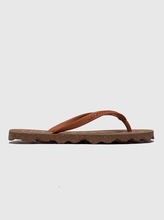 Asportuguesas Schuhe Base Flip Flop [brown/brown] jetzt im Onlineshop von zündstoff bestellen