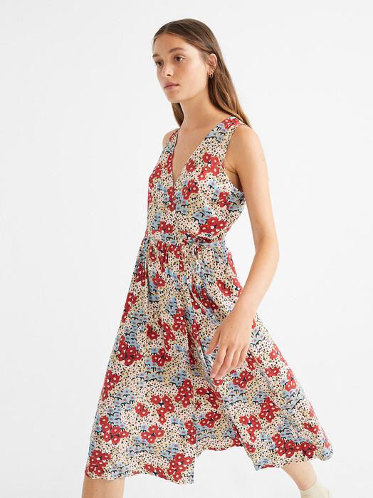Thinking MU Kleider Small Flowers Amapola Dress [multicolor] L jetzt im Onlineshop von zündstoff bestellen