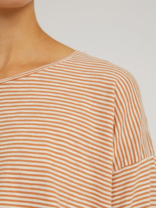 ARMEDANGELS Longsleeves Siaa Pretty Stripes [toasted hazel/oatmilk] jetzt im Onlineshop von zündstoff bestellen