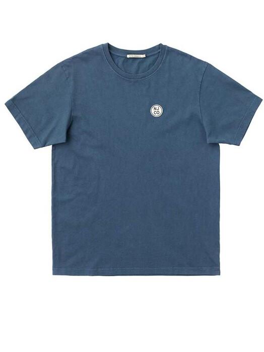 nudie Jeans T-Shirts Uno NJCO Circle [indigo blue] jetzt im Onlineshop von zündstoff bestellen
