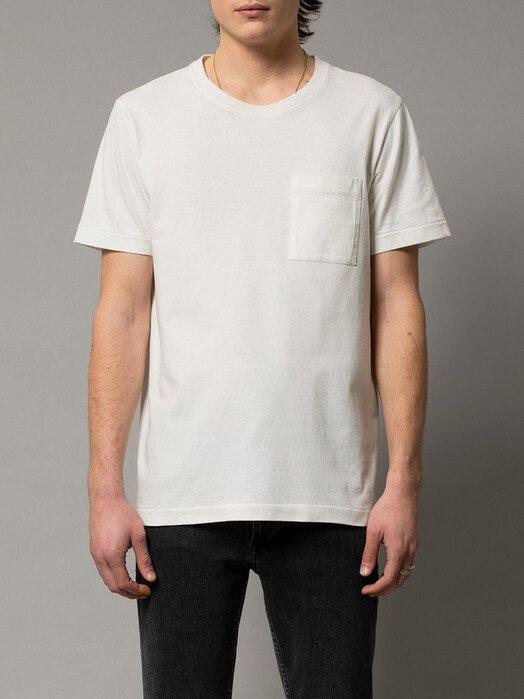 nudie Jeans T-Shirts Roy One Pocket Tee [offwhite] jetzt im Onlineshop von zündstoff bestellen