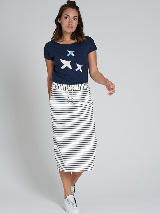 recolution  Röcke Midi Skirt [navy/white] M jetzt im Onlineshop von zündstoff bestellen