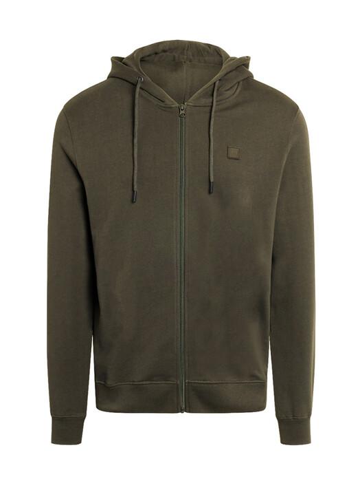 Knowledge Cotton Apparel  Hoodies Elm Badge Zip-Hoodie [forrest night] S jetzt im Onlineshop von zündstoff bestellen