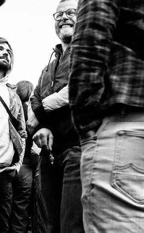 Matze ist einer der Gründer von zündstoff und auch dabei beim Klimastreik