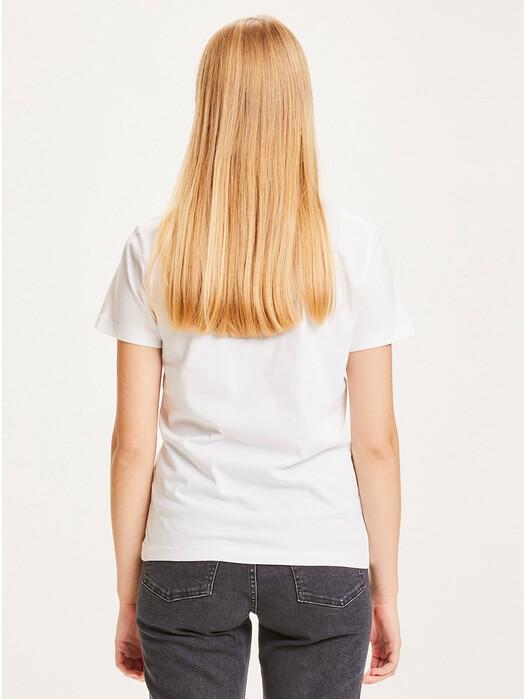 Knowledge Cotton Apparel  T-Shirts Rosa Basic Tee [bright white] jetzt im Onlineshop von zündstoff bestellen