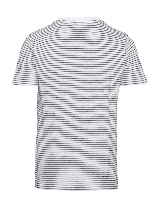 Knowledge Cotton Apparel  T-Shirts Alder Striped Tee [bright white] L jetzt im Onlineshop von zündstoff bestellen