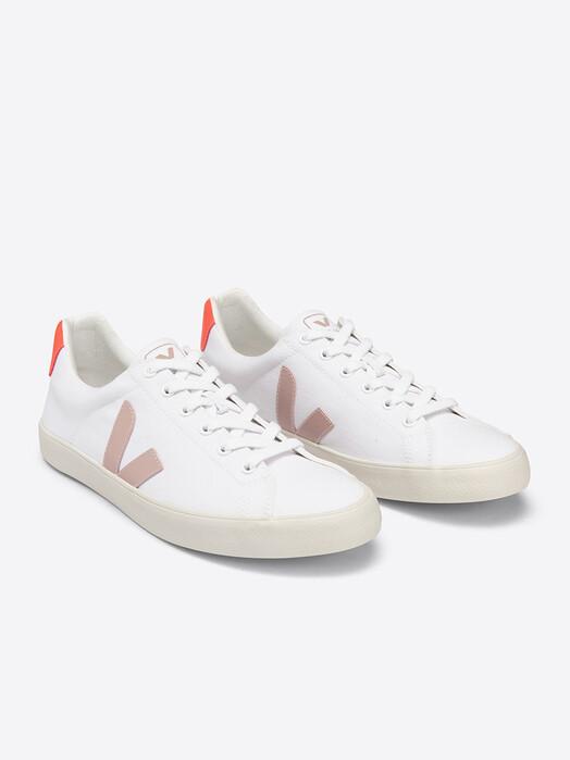 Veja Schuhe  Esplar Canvas [white babe orange-fluo] jetzt im Onlineshop von zündstoff bestellen