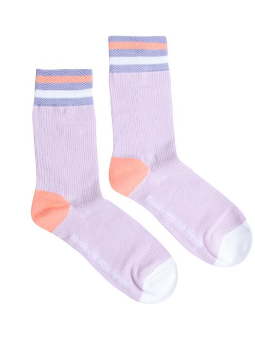 Knowledge Cotton Apparel  Socken  Diane Colorblock Rib Socks [pastel lilac] 35-38 jetzt im Onlineshop von zündstoff bestellen