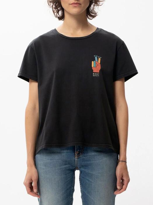 nudie Jeans T-Shirts Lisa I-C-U [black] jetzt im Onlineshop von zündstoff bestellen