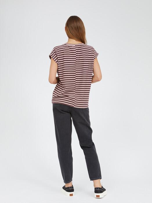 ARMEDANGELS T-Shirts Jaarin Knitted Stripe [aubergine/kinoko] jetzt im Onlineshop von zündstoff bestellen