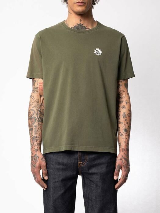 nudie Jeans T-Shirts Uno NJCO Circle [olive] jetzt im Onlineshop von zündstoff bestellen