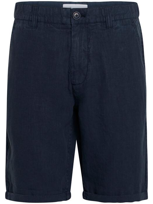 Knowledge Cotton Apparel  Shorts Chuck Loose Linen Shorts [total eclipse] 31 jetzt im Onlineshop von zündstoff bestellen