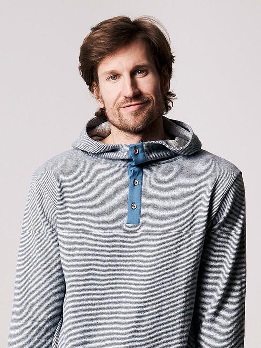 bleed clothing Hoodies Stripe Hanf-Hoody [blau] M jetzt im Onlineshop von zündstoff bestellen