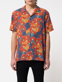 Das leuchtend bunte Hemd Arvid Flowers von Nudie Jeans