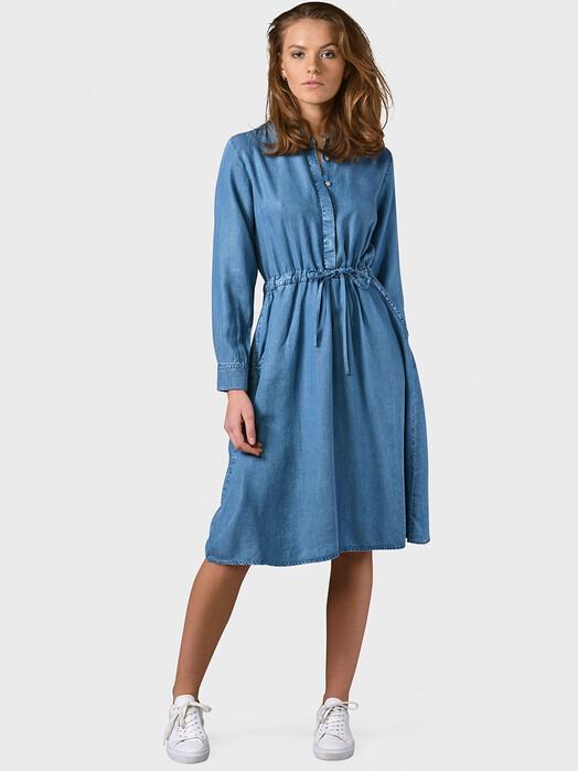 Klitmøller Collective Kleider Cornelia [light blue chambrey] jetzt im Onlineshop von zündstoff bestellen