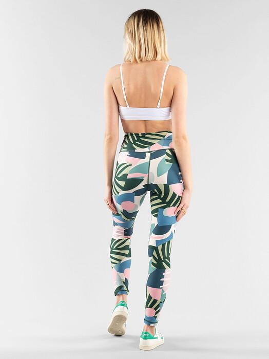 Dedicated Leggings & Strumpfhosen Kaxholmen Collage Leaves [green] jetzt im Onlineshop von zündstoff bestellen