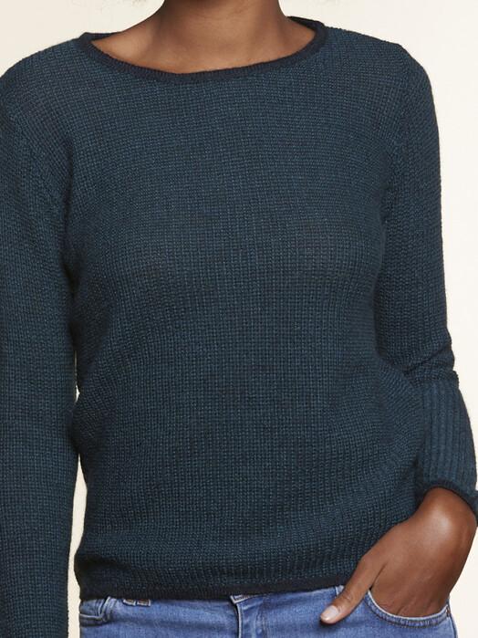 Les Racines du Ciel Strickpullover & Cardigans Ker Round Neck Sweater [green/petrol] jetzt im Onlineshop von zündstoff bestellen