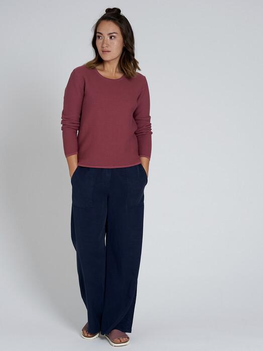 recolution  Strickpullover & Cardigans Rib Knit Crew Neck [dark rose] L jetzt im Onlineshop von zündstoff bestellen