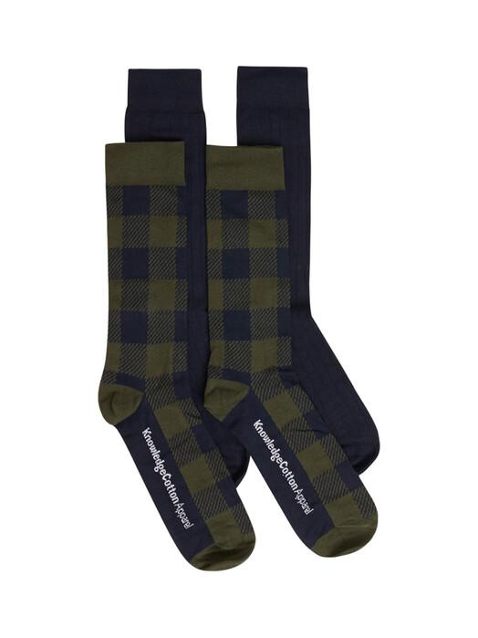 Knowledge Cotton Apparel  Socken  Timber 4-Pack Socks [forrest night] 38-42 jetzt im Onlineshop von zündstoff bestellen