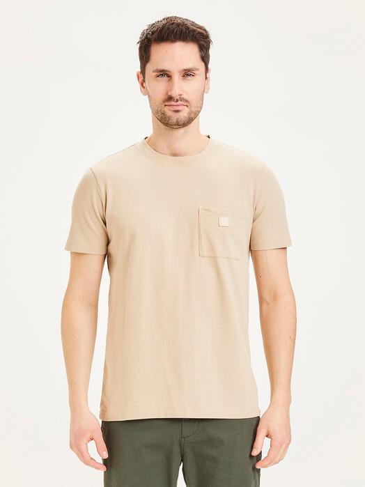 Knowledge Cotton Apparel  T-Shirts Alder Garment Dyed Pique [light feather gray] jetzt im Onlineshop von zündstoff bestellen