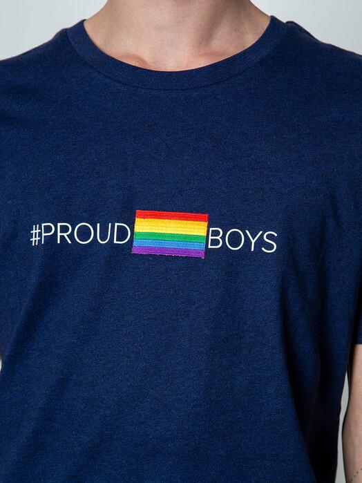 Kombinat 161 T-Shirts T-Shirt #proudboys [black heather blue] jetzt im Onlineshop von zündstoff bestellen