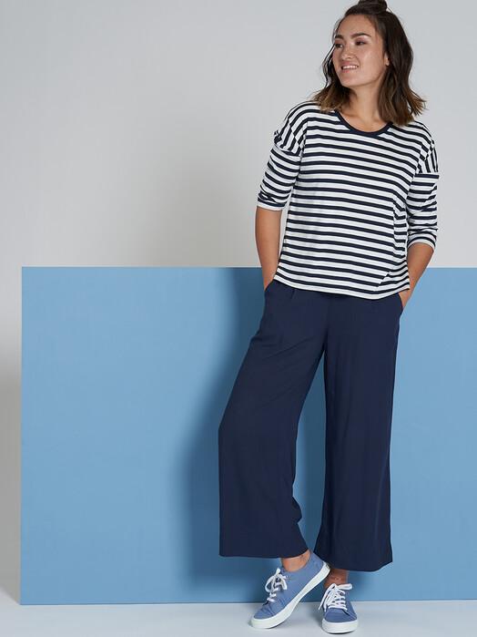recolution  Longsleeves Tencel Boxy Longsleeve Stripes [navy/white] jetzt im Onlineshop von zündstoff bestellen