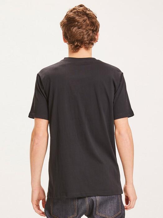 Knowledge Cotton Apparel  T-Shirts Alder Big Owl Lined Tee [black jet] M jetzt im Onlineshop von zündstoff bestellen
