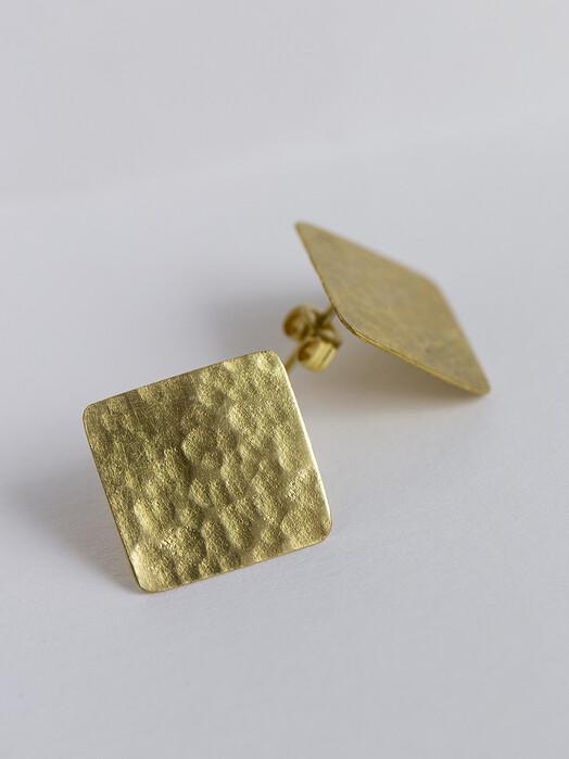 People Tree  Schmuck Square Stud Earrings [brass] One Size jetzt im Onlineshop von zündstoff bestellen