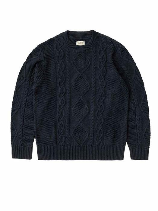 nudie Jeans Strickpullover Didrik Braided [indigo] jetzt im Onlineshop von zündstoff bestellen