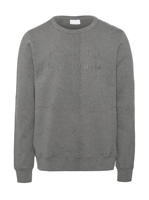 Knowledge Cotton Apparel  Sweatshirts Elm Knowledge Scandinavia Sweat [grey melange] jetzt im Onlineshop von zündstoff bestellen