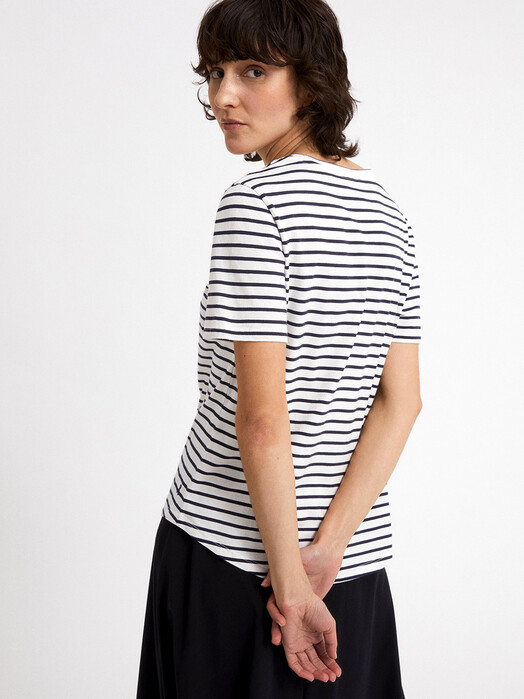 ARMEDANGELS T-Shirts Minaa Stripes [off white/night sky] jetzt im Onlineshop von zündstoff bestellen
