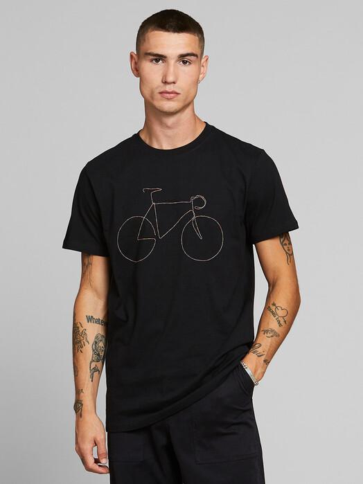 Dedicated T-Shirts Stockholm Rainbow Bicycle [black] jetzt im Onlineshop von zündstoff bestellen