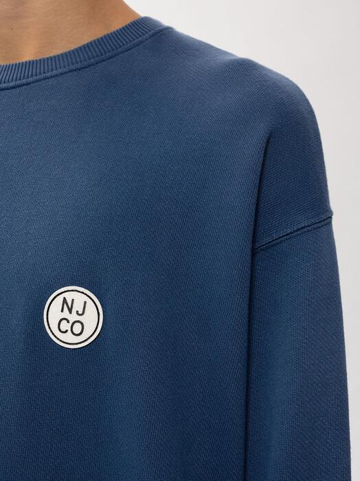 nudie Jeans Sweatshirts Lukas NJCO Circle [indigo blue] jetzt im Onlineshop von zündstoff bestellen