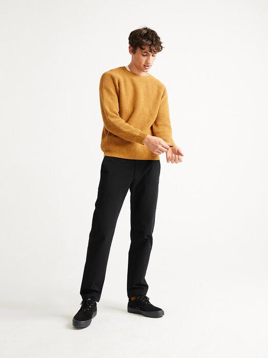 Thinking MU Strickpullover Anteros Knitted Sweater [mustard] jetzt im Onlineshop von zündstoff bestellen