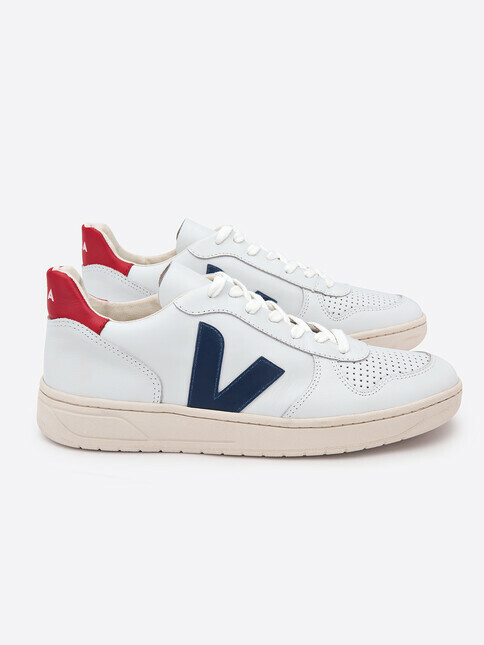 Veja V-10 Leather [extra-white nautico pekin]