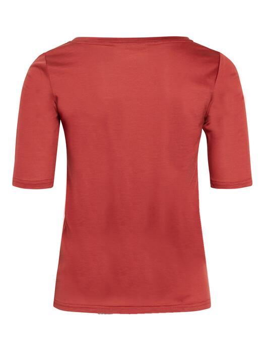 Knowledge Cotton Apparel  T-Shirts Violet Tencel Tee [marsala] M jetzt im Onlineshop von zündstoff bestellen