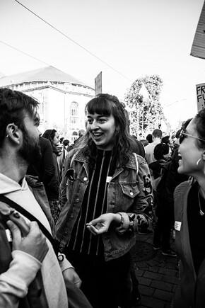 Das zündstoff Team bei dem Klimastreik in Freiburg