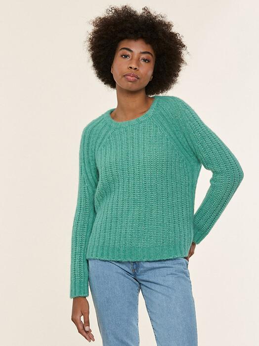 Les Racines du Ciel Strickpullover & Cardigans Brise Rib Sweater [a-green] jetzt im Onlineshop von zündstoff bestellen