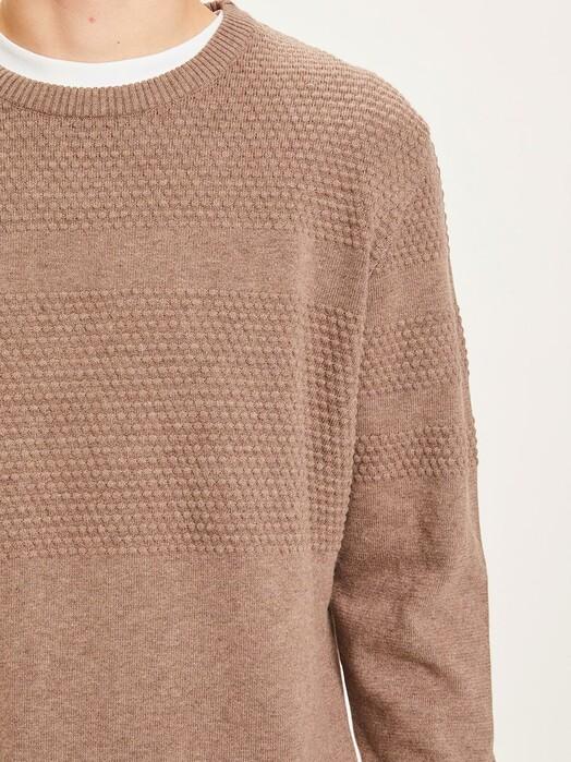 Knowledge Cotton Apparel  Strickpullover Field Bobble Knit [kelp melange] jetzt im Onlineshop von zündstoff bestellen