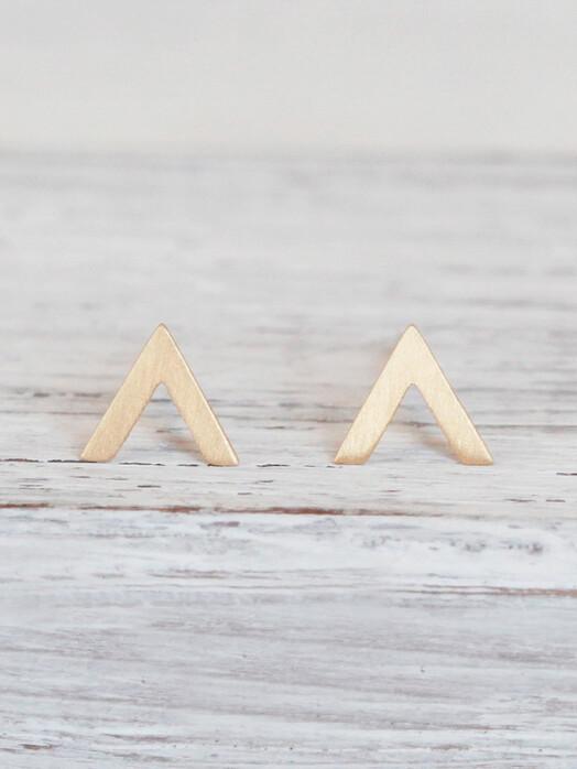 pikfine Schmuck Vergoldete Ohrstecker Arrow One Size jetzt im Onlineshop von zündstoff bestellen