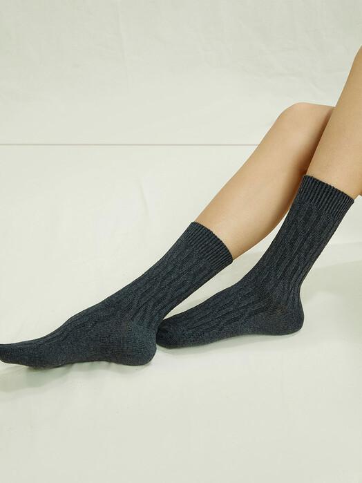 People Tree  Socken  Cable Socks [grey melange] jetzt im Onlineshop von zündstoff bestellen