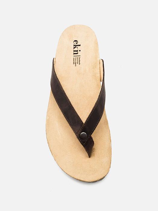 ekn Schuhe Sandal [brown leather] jetzt im Onlineshop von zündstoff bestellen