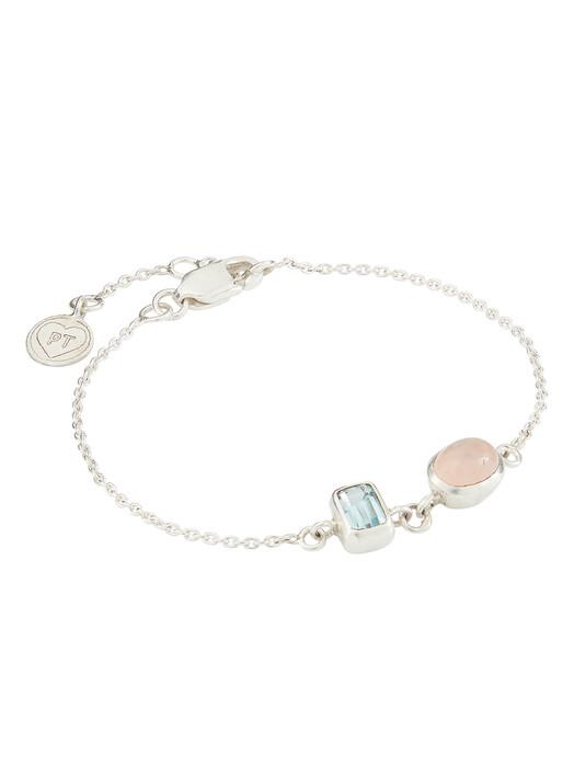 People Tree  Schmuck Double Stone Bracelet [rose quartz/blue topaz/silver] One Size jetzt im Onlineshop von zündstoff bestellen