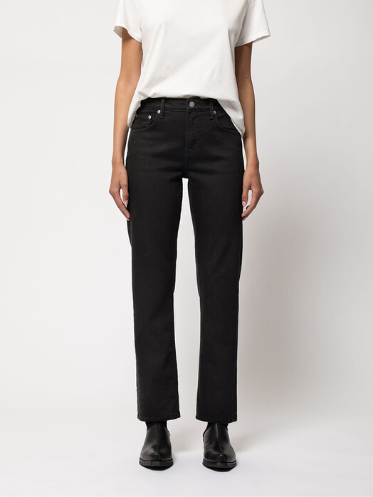 nudie Jeans Jeans Straight Sally [everblack] jetzt im Onlineshop von zündstoff bestellen