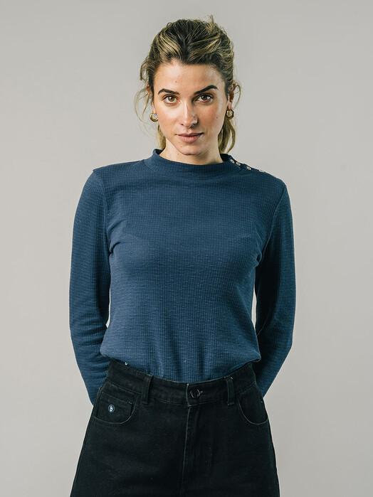 Brava Fabrics Longsleeves Perkins Longsleeve [indigo] jetzt im Onlineshop von zündstoff bestellen