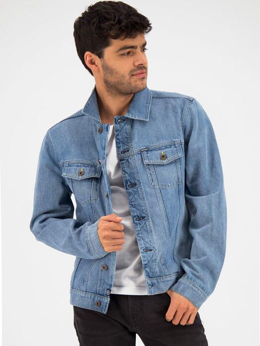 Kuyichi  Jacken & Mäntel Bourne Jacket [vintage blue] jetzt im Onlineshop von zündstoff bestellen