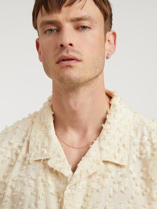 ThokkThokk  Hemden & Polos Short Sleeve Shirt [cloud cream fringes] jetzt im Onlineshop von zündstoff bestellen