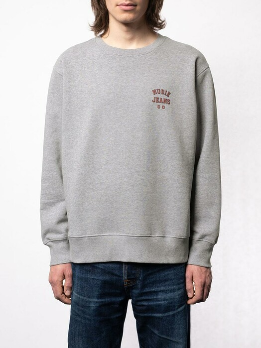 nudie Jeans Sweatshirts Frasse Logo Sweatshirt [greymelange] jetzt im Onlineshop von zündstoff bestellen