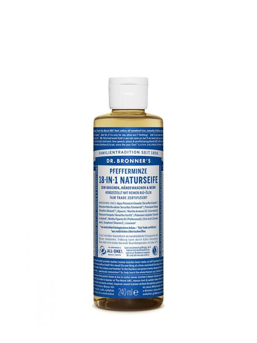 Dr. Bronner's Kosmetik Liquid Soap Pfefferminze 240ml jetzt im Onlineshop von zündstoff bestellen