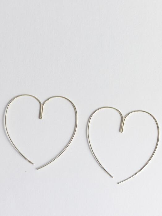 People Tree  Schmuck Love Heart Earrings [silver] One Size jetzt im Onlineshop von zündstoff bestellen